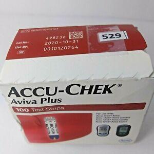 Accu-Chek-Aviva-Plus-100-Count-Exp-10-2020-Diabetic-Glucose-Test-Strips