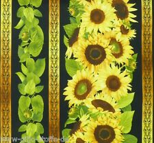 Bordüre Sunflower Patchworkstoffe Sonnenblumen Stoffe Patchwork Blumen Baumwolle