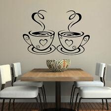 Removeble Geometric Coffee Cup Head Design Wall Sticker Geometry Series  Decor