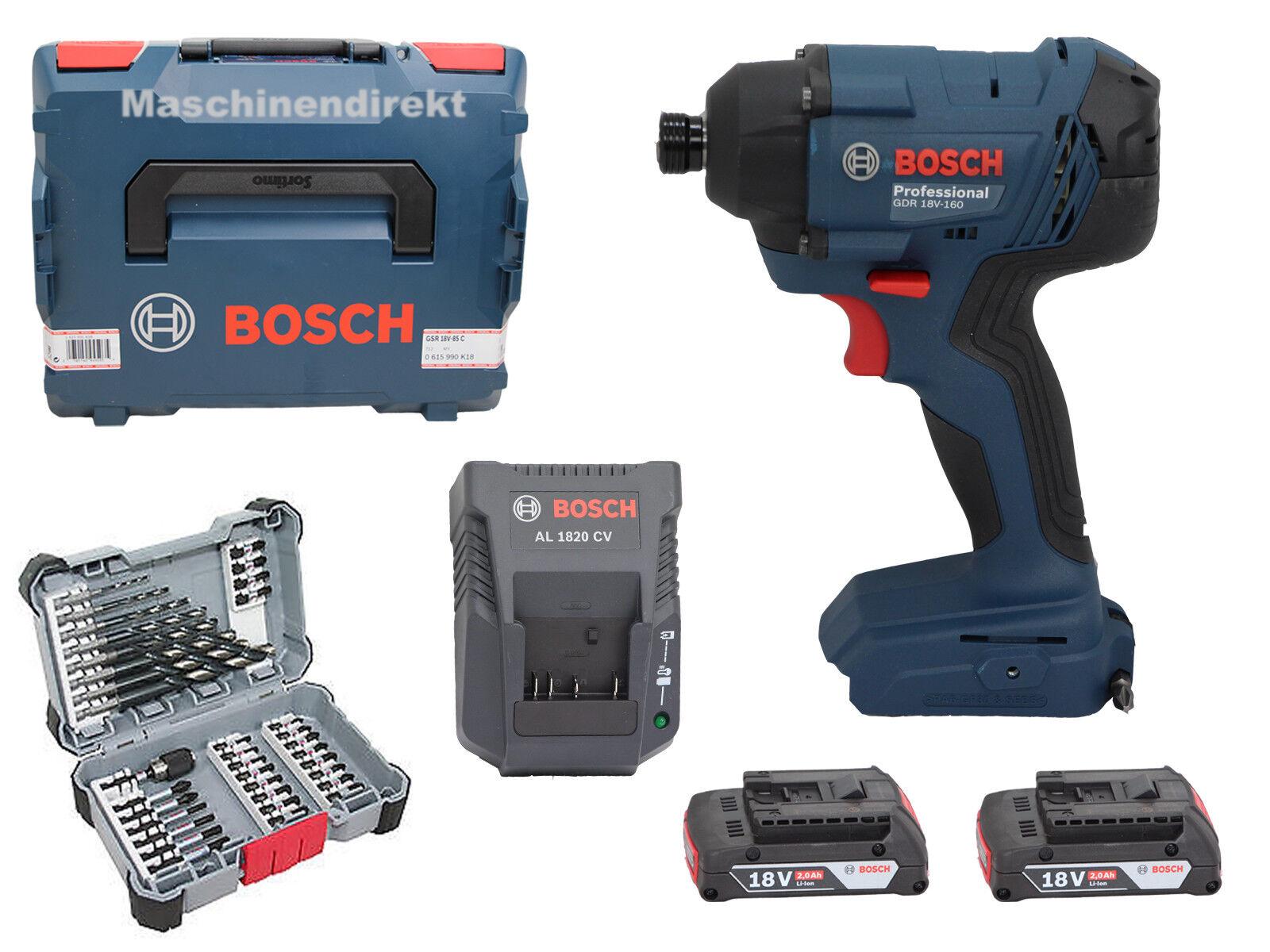 Bosch Akku Drehschlagschrauber GDR18V-160 + Schrauberbitset 35tlg 2 608 577 148
