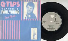 Q TIPS feat PAUL YOUNG disco 45 giri MADE in UK 1983 Love hurts STAMPA INGLESE