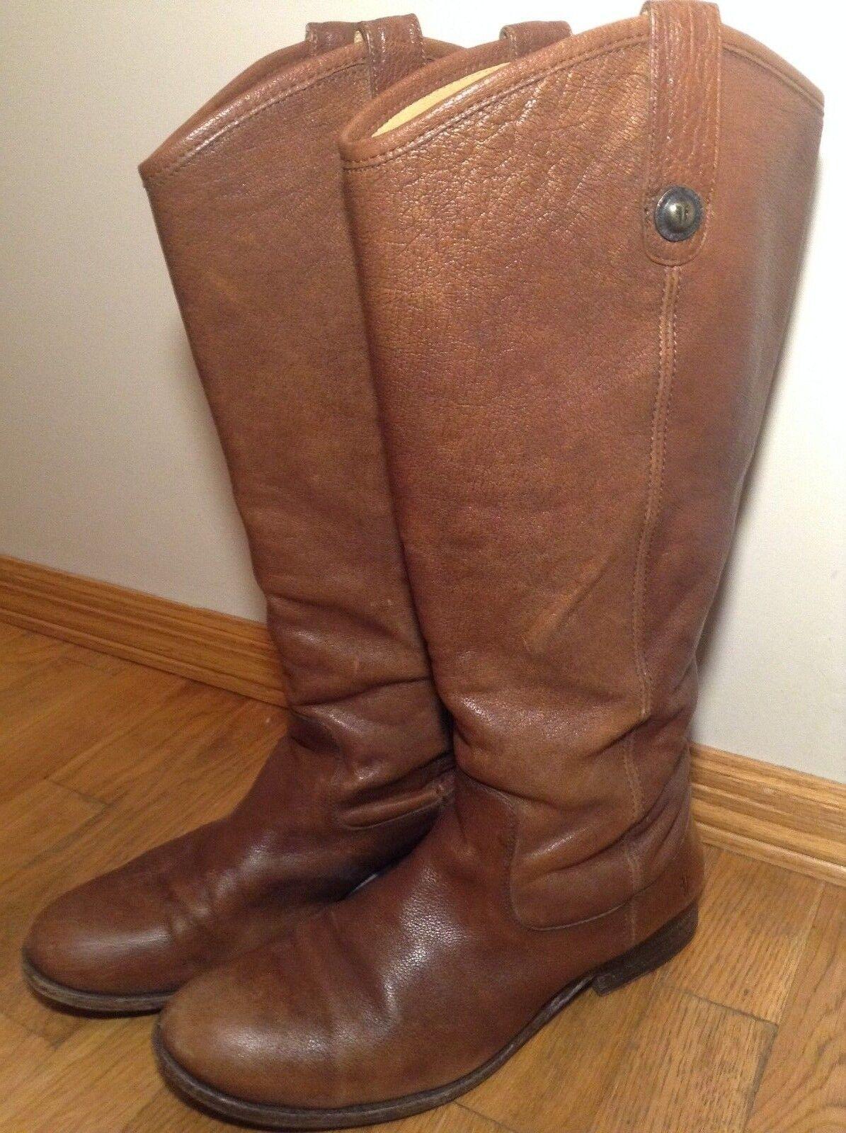 Precio por piso Frye Frye Frye Melissa Button 2 Para mujeres Alto a la rodilla marrón cuero botas Sz 10 B  compras online de deportes