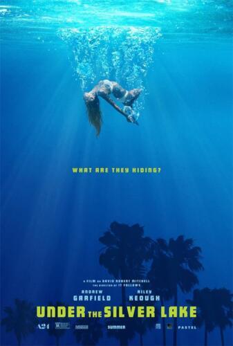 2018 Thriller Film Under the Silver Lake Movie Art Poster Print