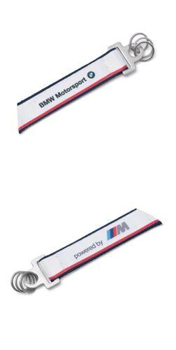 KEYRING KEYCHAIN LLAVERO WHITE LOGO OFFICIAL BMW M MOTORSPORT 2015 NEW