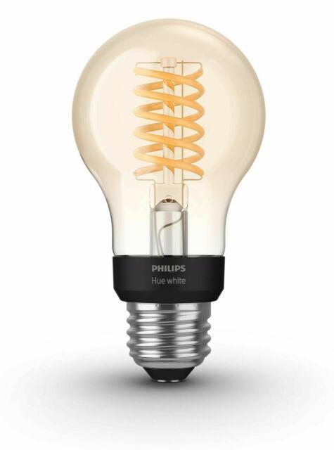 Philips - Hue White Filament A19 Bluetooth Smart LED Bulb -