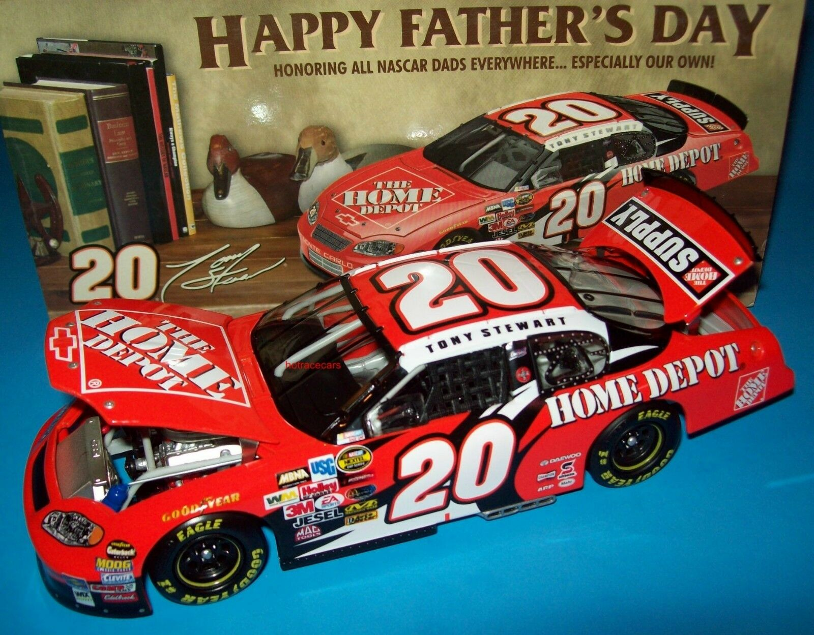 Tony Stewart 2004 Home Depot Fathers Day Monte Carlo 1 24 NASCAR Diecast