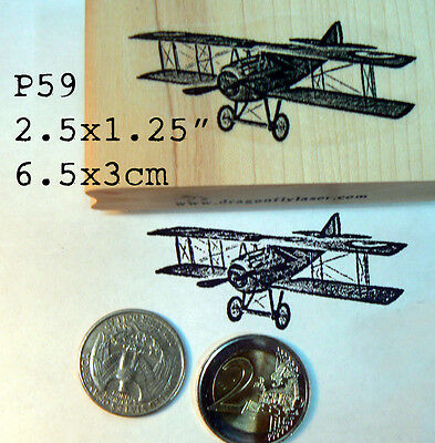 P59 Airplane rubber stamp WM