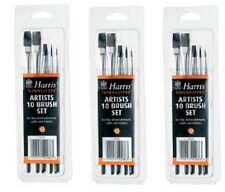 3 X 10 PC Harris Performance detalle fino artista Pintura Cepillo Conjunto