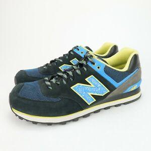 New-Balance-ML574OIC-Men-039-s-574-Black-Blue-Classic-Sneakers-Shoes-Size-13-D