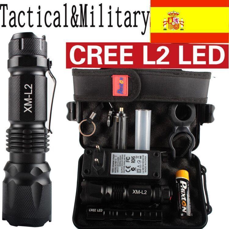 80000LM Policía Linterna CREE XML XM-L L2 LED 18650 Antorcha Militar Linternas