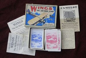 RARE playing cards Game WINGS c 1928 by Parker AirMail card game   098 - <span itemprop='availableAtOrFrom'> On the hill, United Kingdom</span> - RARE playing cards Game WINGS c 1928 by Parker AirMail card game   098 -  On the hill, United Kingdom