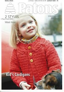 Vat Free Knitting Pattern Only Patons Kid S Children S Cardigans