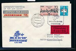97541) Rda Coursier Lettre If Ff Berlin-kiev 12.3.89-afficher Le Titre D'origine