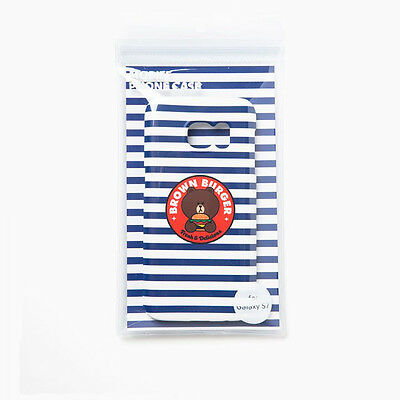 Line Friends Burger Chips Collection Official Blue Stripe Galaxy Hard Case