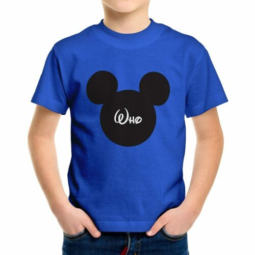 Personnalisé Custom Imprimé votre Texte Mickey Mouse Youth Teen Kids Tee T-Shirt