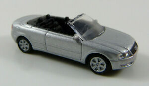 Audi-A4-Cabrio-silber-High-Speed-1-87-H0-ohne-OVP-MB18
