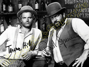 BUD-SPENCER-amp-TERENCE-HILL-print-signed-photo-foto-con-autografo-stampato