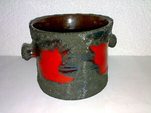 ROTH-MAREI-Pot-Planter-Topf-4206-1-FAT-LAVA-Mid-Century-60s-Dia-14-cm-WGP