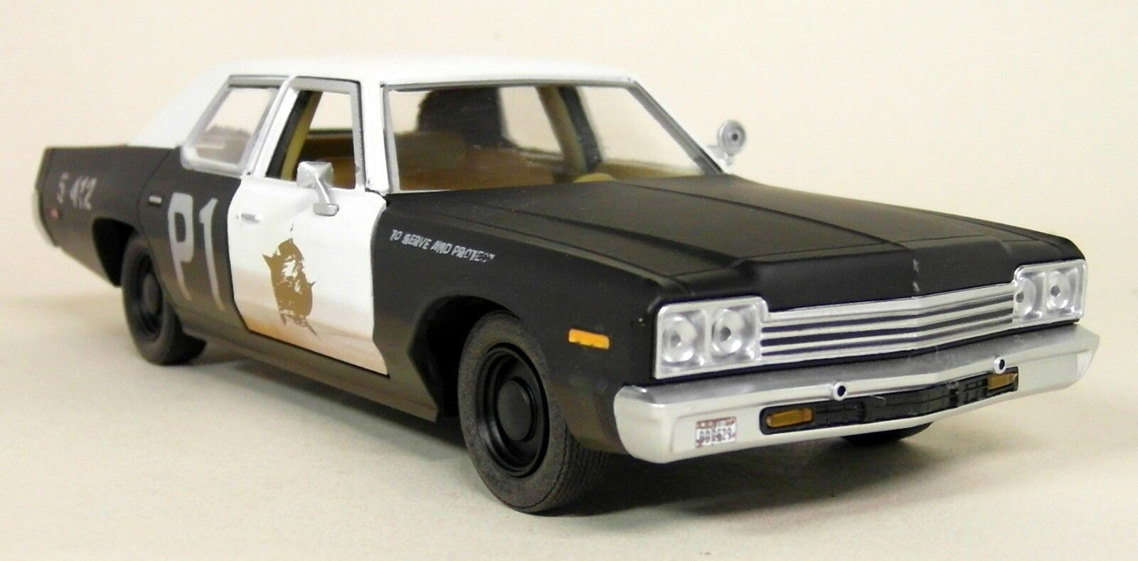 Greenlight 1 24 Scale 1974 Dodge Monaco blueesmobile bluees Bredher Bredher Bredher Diecast Model 378036