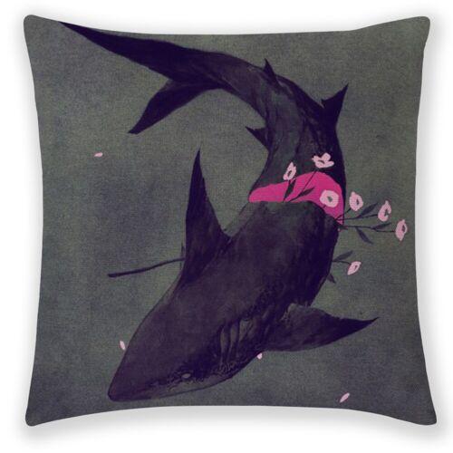 "18/"" Sea Animal Pattern Linen Pillowcase Sofa Cushion Cover Throw Home Decoration"