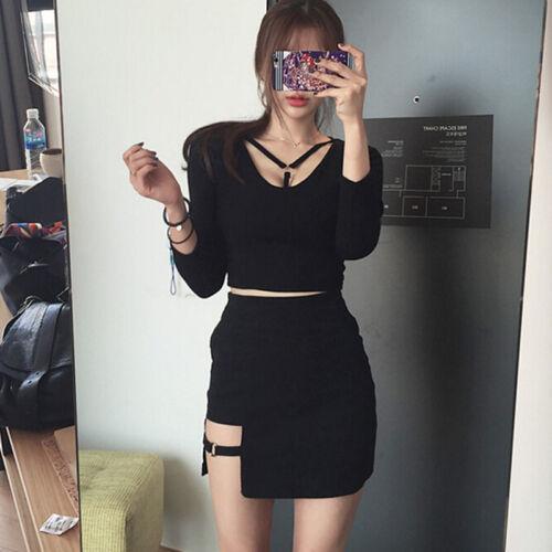 Womens High Waist Bodycon Mini Skirt Elasticated Short Skirts one