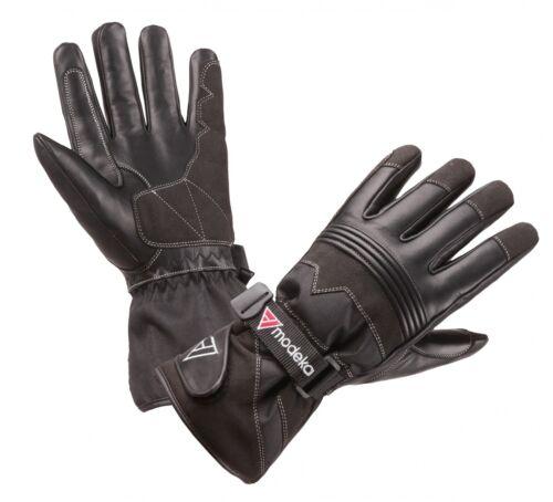 Modeka Freeze Evo Kids Kinder Motorrad Handschuhe schwarz wasserdicht winddicht