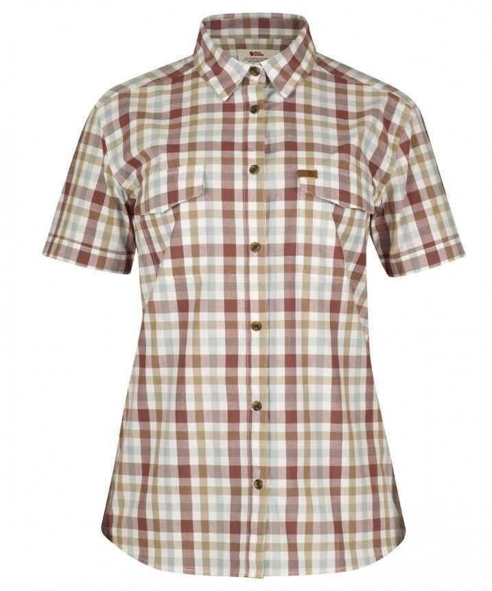 FjällRäven Övik Shirt Damen Kurzarm Blause 100% Bio-Baumwolle=kühlend leicht guck