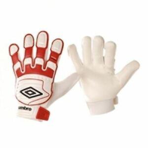 Umbro-Stealth-Bouclier-Rouge-Blanc-Entrainement-Football-Gardien-Gant-Taille-6