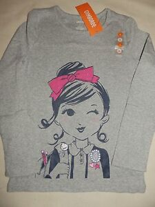 Gymboree-FAIRY-TALE-FOREST-Heather-Grey-Girl-I-love-Books-L-S-Tee-NWT-4-5-6