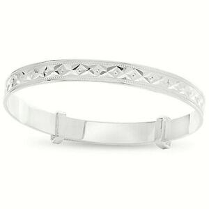 Sterling-Silver-Newborn-Baby-Christening-Birthday-Bracelet-Expandable-Bangle