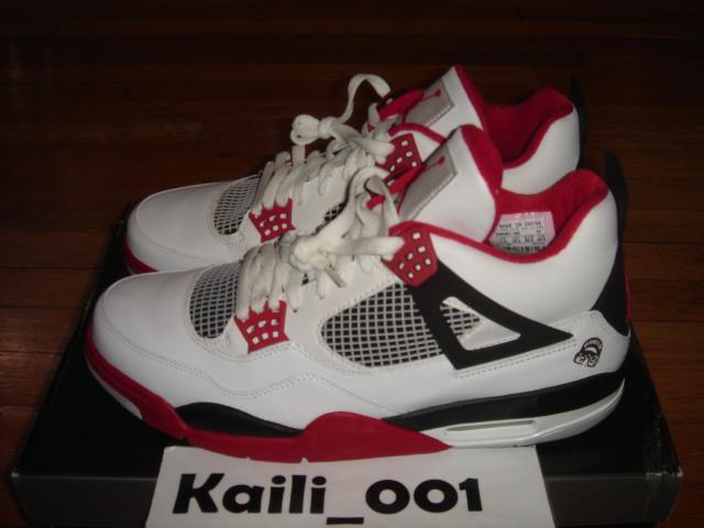 Nike Air Jordan 4 Retro Size 11.5 Mars Fire Red 2005 Toro DB Cement Red Oreo B