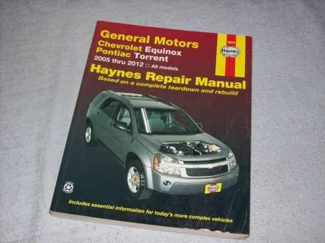 Haynes Repair Manual Gm Chevrolet Equinox Pontiac Torrent