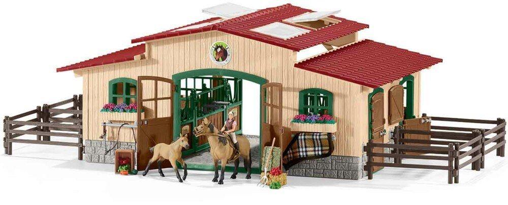 Schleich 42195-cuadra con caballos y accesorios, nuevo/en el embalaje original
