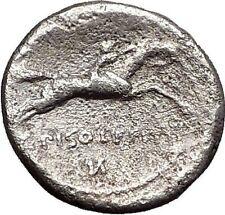 Roman Republic Rome 90BC Apollo Horse Racing Original Ancient Silver Coin i55691