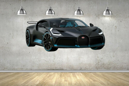 Bugatti Divo Super Car Childrens Wall Stickers Bedroom Decal Wall Art 4 Size