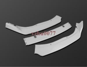 3X For Honda Accord 2018-19 ABS Gloss white Front Bumper Lip Spoiler Base Model