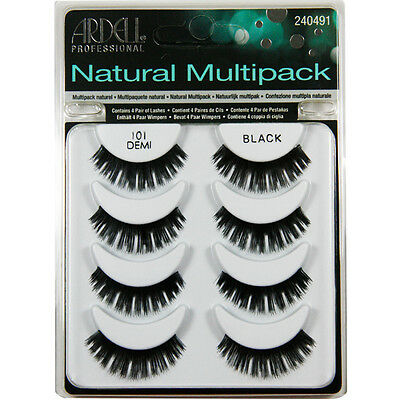(4 Pairs) Ardell #101 DEMI NATURAL MULTIPACK False Eyelashes Fake Lashes