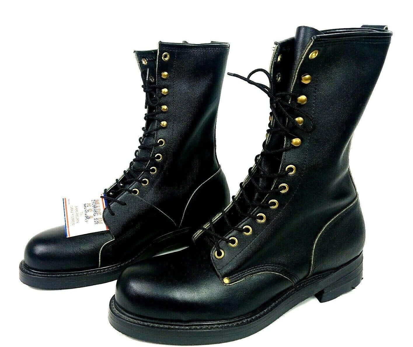 botas De Combate De Cuero Vintage originaltag acero del dedo del pie miragum resistente al aceite 10.5 estrecho