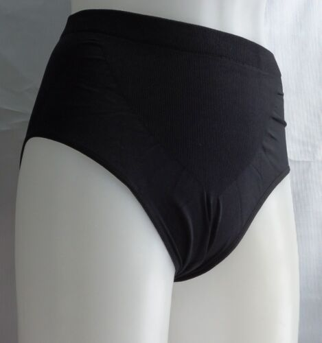 2 Control Brief Support Panties Shaping Brief Seamless Black Beige 2X 3X 4X