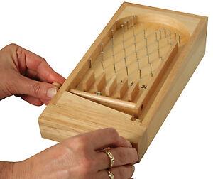 Mini-Pinnball-Holz-Brettspiel-Flipper
