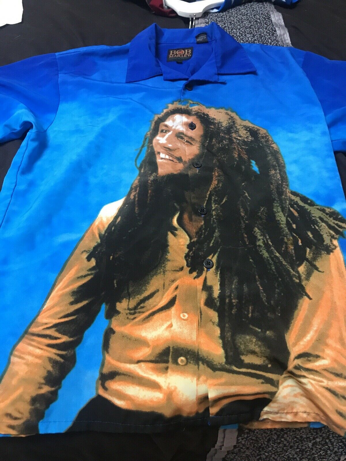 herren Dragonfly Bob Marley hemd groß