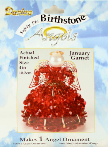 January Garnet Birthstone Angel Christmas Ornament Kit