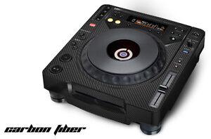Skin Decal Sticker Wrap pour Pioneer CDJ 800 MK2 Pour platine pro Audio Mixer Carbone