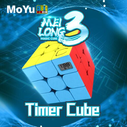MoYu Meilong 3x3 Timer Cube Zauberwürfel Speedcube Magic Cube Magischer Würfel