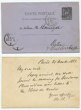 21953 - Ganzsache - Postkarte - Frankreich - Paris 21.11.1882 nach Berlin