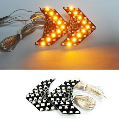 Amber 27 SMD LED Turn Signal Light Arrow Panel Rear View Sequential Side Mirror