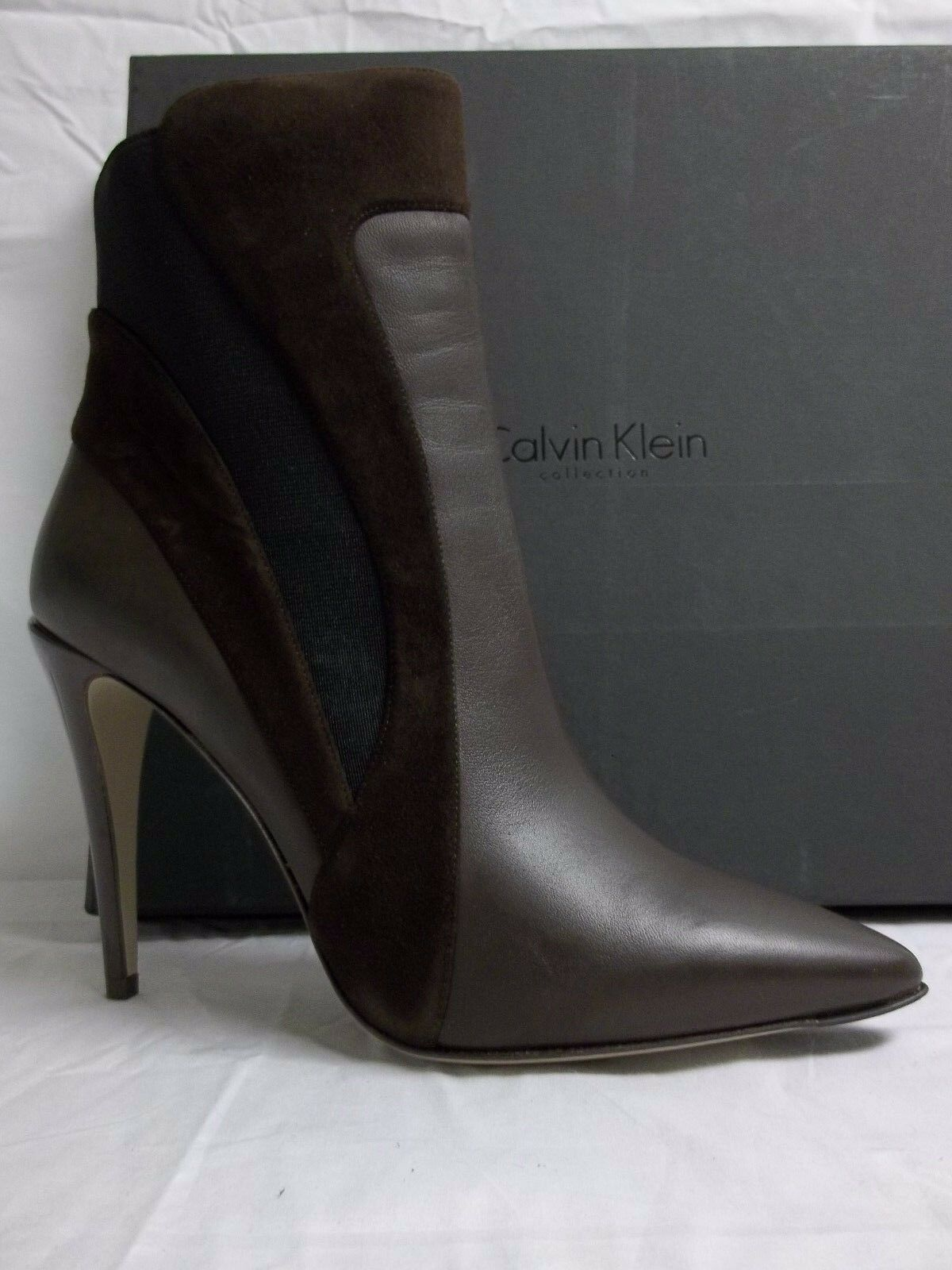 Calvin Klein Collection Size US 9.5 Ilana Brown Suede Booties New Womens
