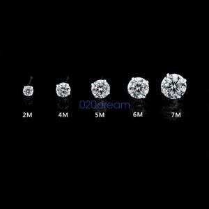 Genuine-Solid-925-Sterling-Silver-CZ-Ear-Piercing-Studs-Earrings-Stud-Ladies