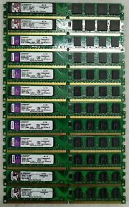 KINGSTON-KVR800D2N6-2G-2GO-PC2-6400U-DDR2-800MHZ