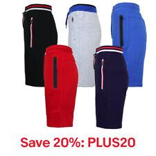 Mens Tech Fleece Sweat Shorts W/Zipper Pockets Lounge Gym, 20% off: PLUS20